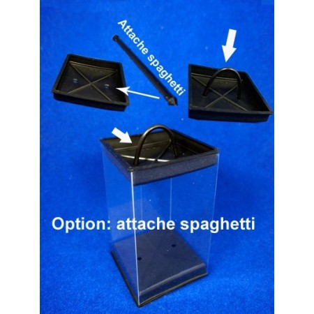 Option attache spaghetti noir